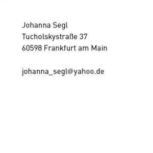 Johanna Segl Kontaktdaten