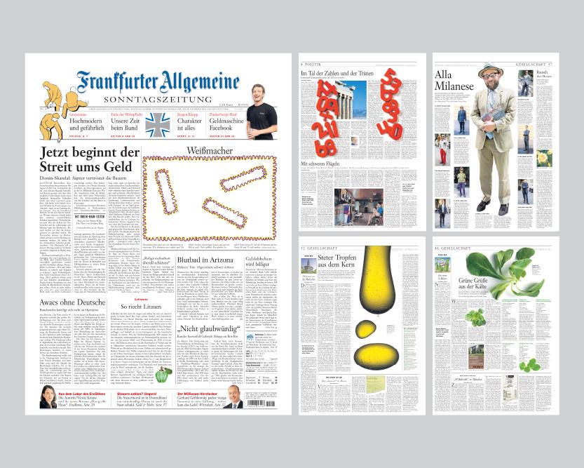 Frankfurter Allgemeine Sonntagszeitung - Grafische Gestaltung
