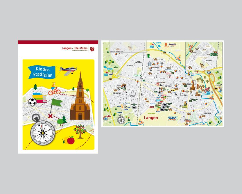 Kinderstadtplan für die Stadt Langen