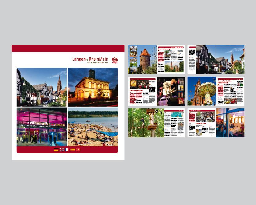 Editorial Design – Imagebroschüre für die Stadt Langen