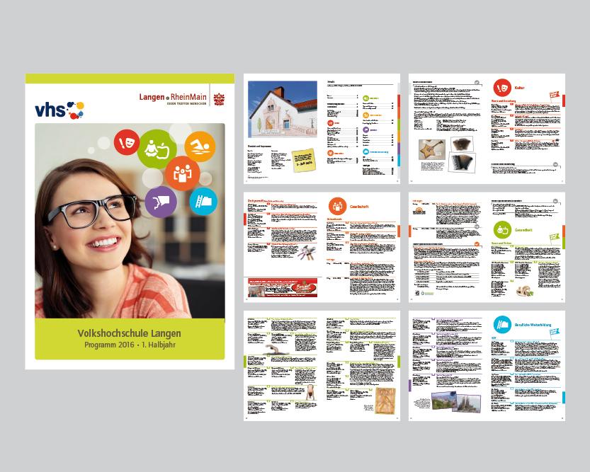 Editorial Design – Programmheft der Volkshochschule der Stadt Langen (36 Seiten)