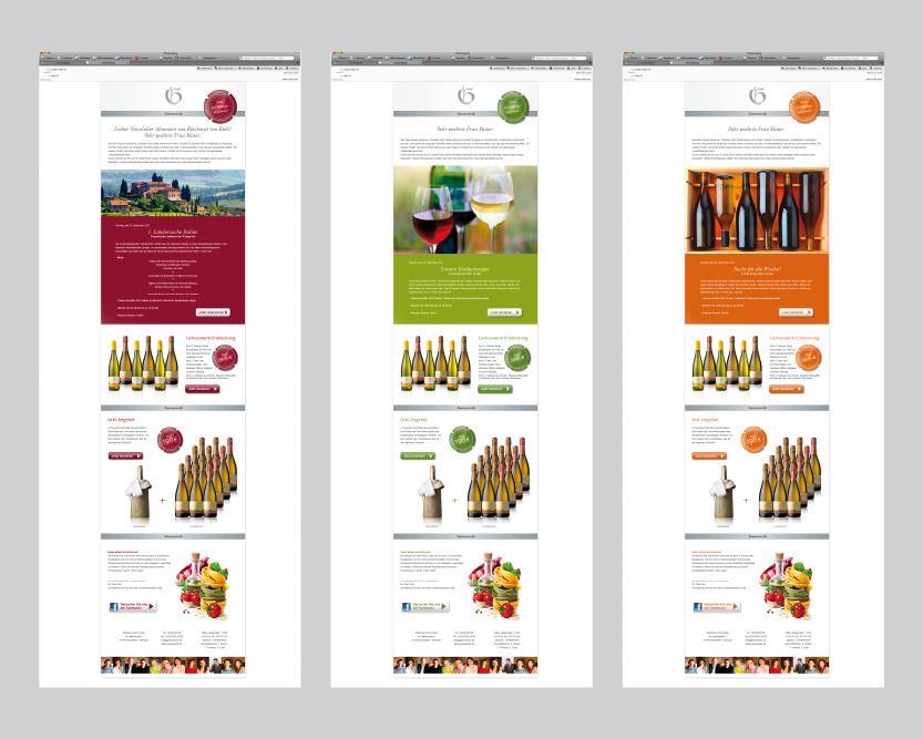 Newsletter für die Sekt- und Weinmanufaktur Graf und das Genusswerk