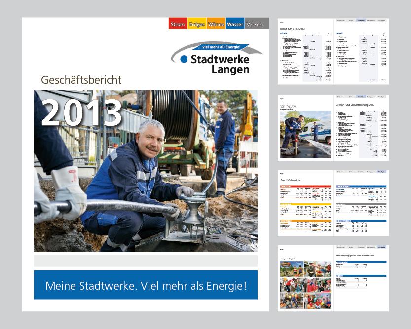 Redesign des Geschäftsberichts der Stadtwerke Langen