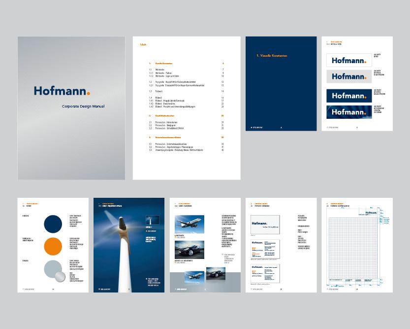 Design Handbuch für die Firma Hofmann
