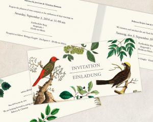 Einladungskarte DIN lang für eine Hochzeit